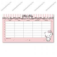 Hello Kitty kétoldalas órarend - Ars Una